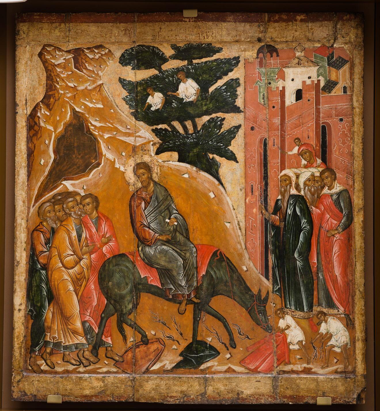 Икона «Вход Господень в Иерусалим». XVI в. Церковь Входа Господня в Иерусалим Покровского собора