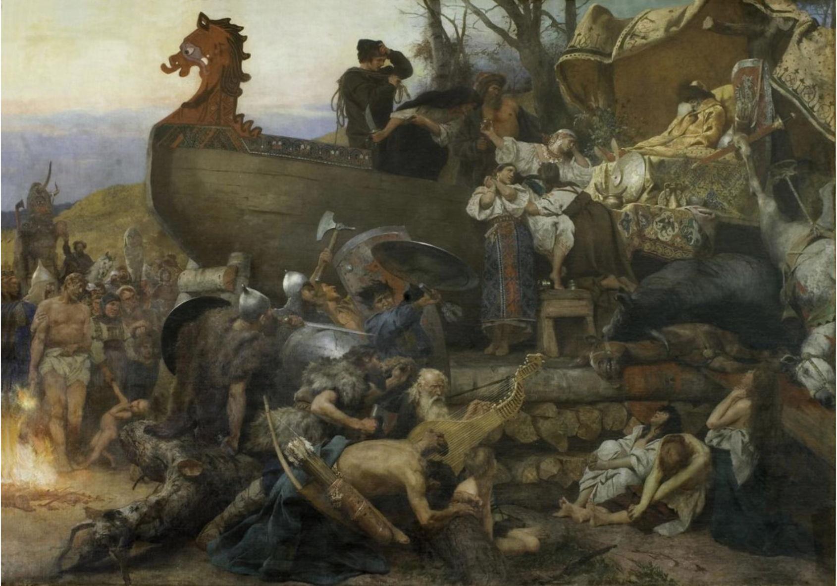Г.И. Семирадский Похороны руса в Булгаре Италия, Рим. 1883
