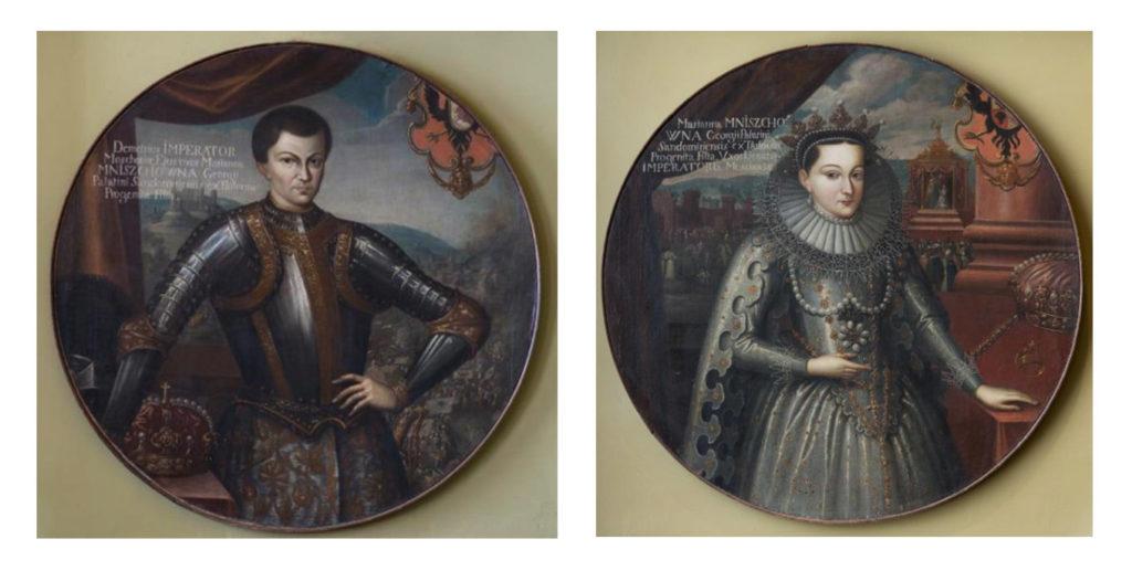 Лжедмитрий I Марина Мнишек Неизвестный художник Польша. Первая треть XVII в. Холст, масло.