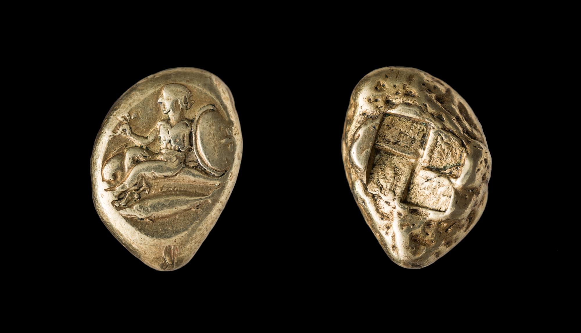 Электровый статер Кизика. 460–400гг. до н.э. Приобретён у Т.Г.Оболдуевой. Фотография Г.Г.Сапожникова