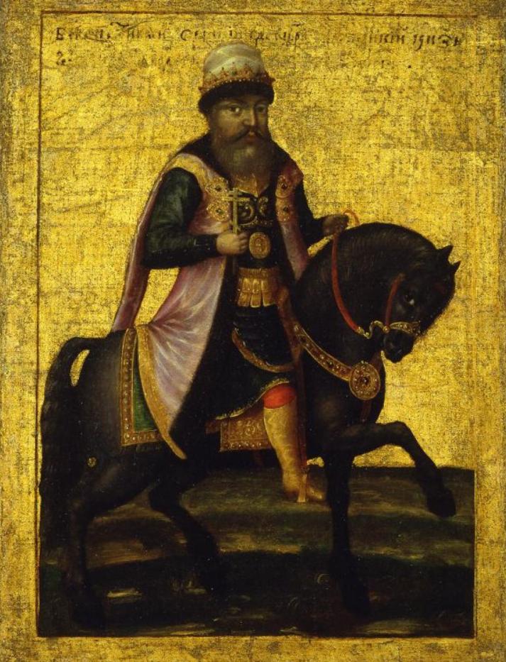 Портрет царя Михаила Федоровича на коне. Неизвестный художник. Вторая половина 1670-х – первая половина 1680-х (?) гг.