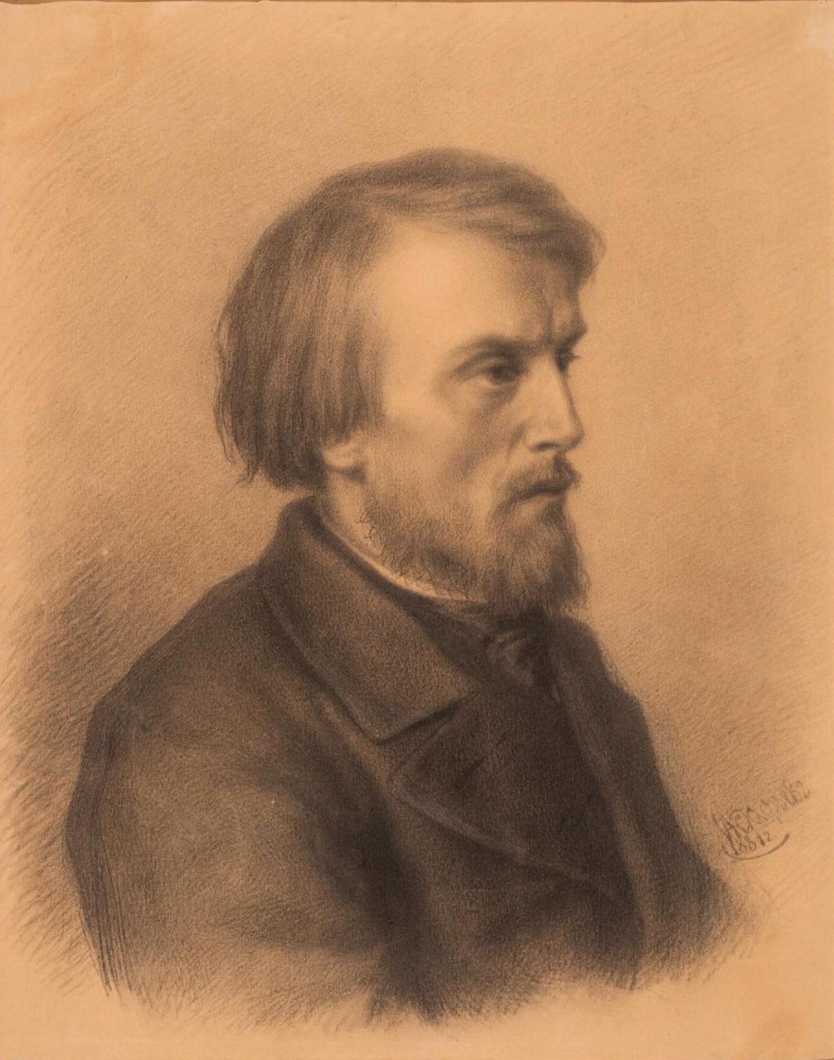 Портрет Виссариона Григорьевича Белинского (1811-1848). Астафьев И.А. 1881 г.
