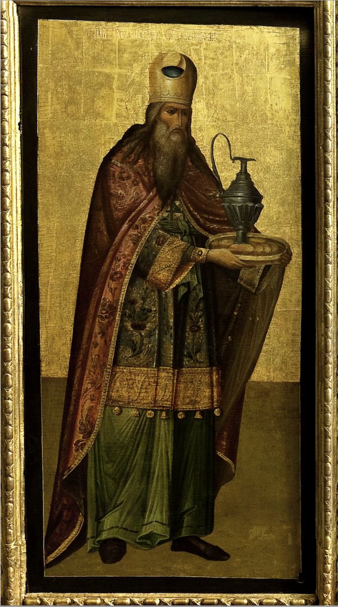 Икона с изображением Мельхиседека. XVIII в.