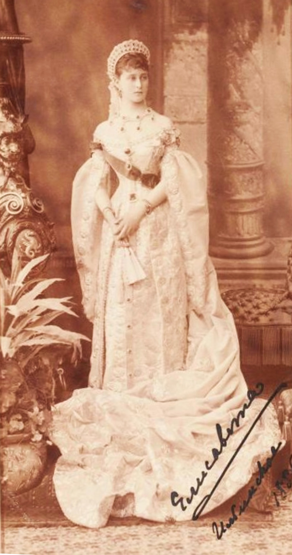 Портрет великой княгини Елизаветы Федоровны. С автографом. Бергамаско К.И. 1885 г.