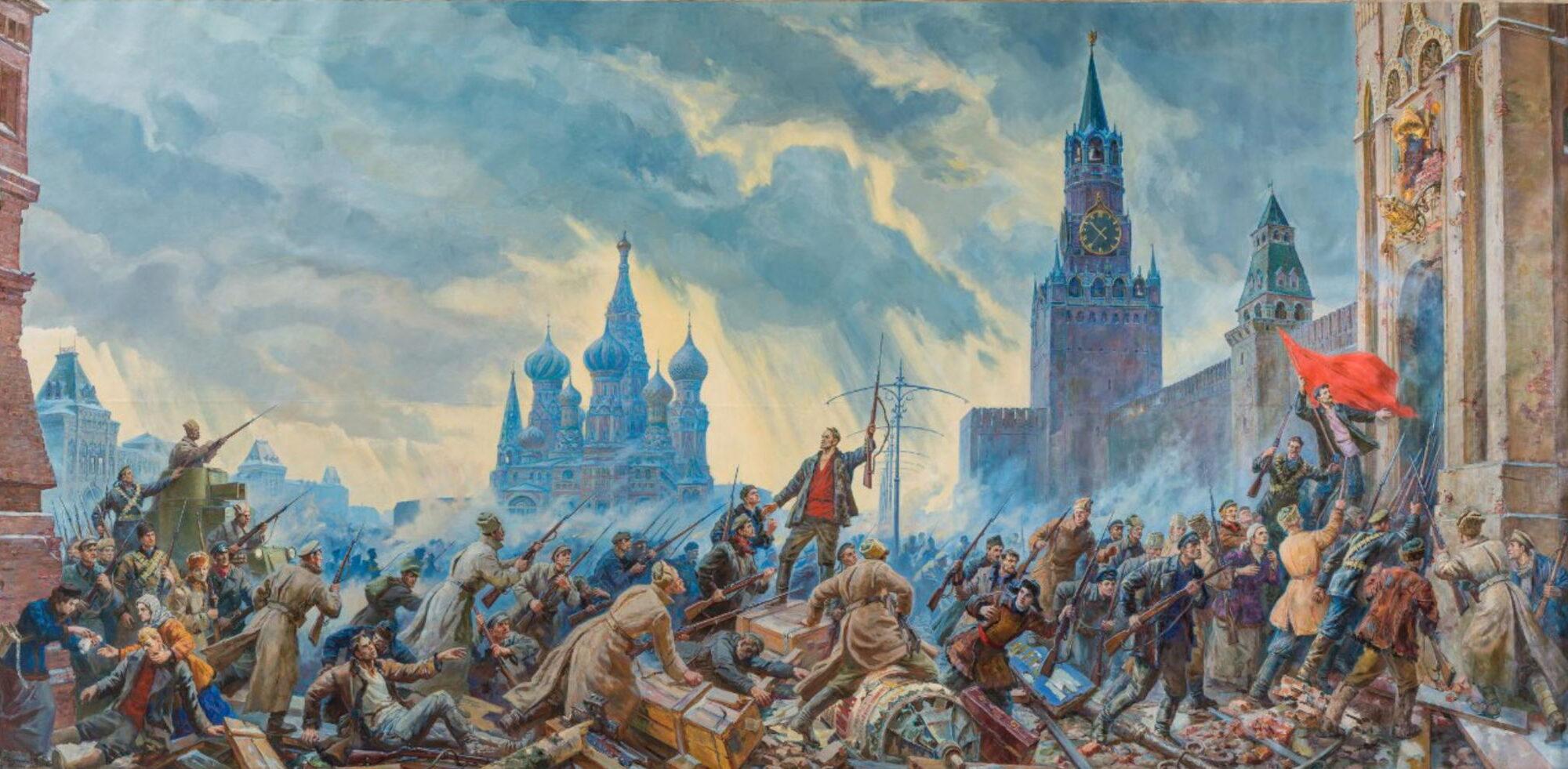 Картина.«Штурм Кремля». Соколов-Скаля П.П. 1960 г.