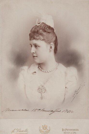 Портрет великой княгини Александры Георгиевны. Пазетти А.А. Пазетти А. 1880-е гг.