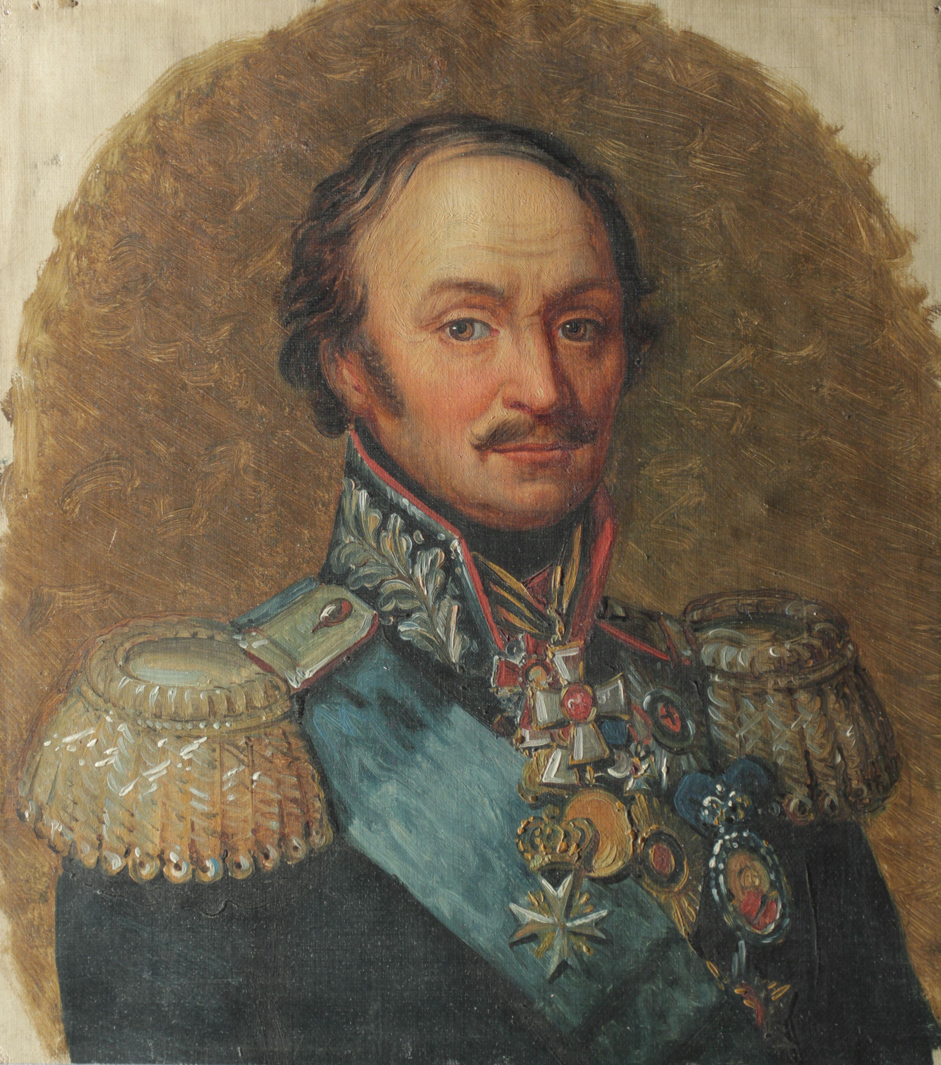 Портрет графа Матвея Ивановича Платова. Середина XIX в.