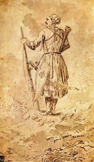Портрет князя Александра Бековича-Черкасского. Художник: Ф.А. Васильев. 1710-е гг.