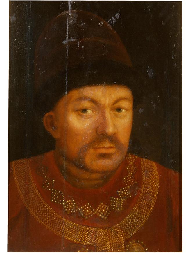 Портрет Г. И. Микулина. Неизвестный художник. Англия, Лондон, 1600 г. Дерево, масло