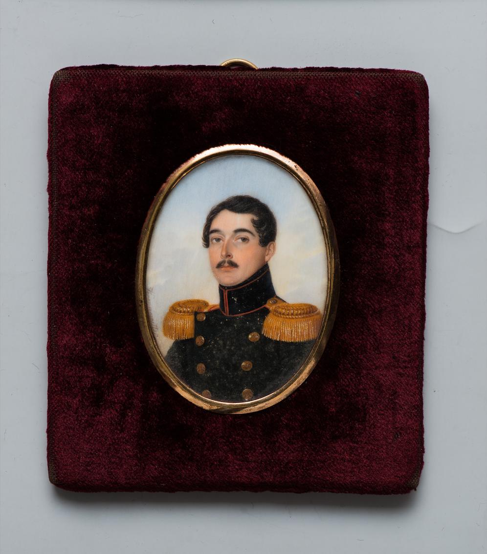 Карл Кронноветтер Портрет графа Михаила Дмитриевича Толстого. Середина 1830-х Кость, гуашь