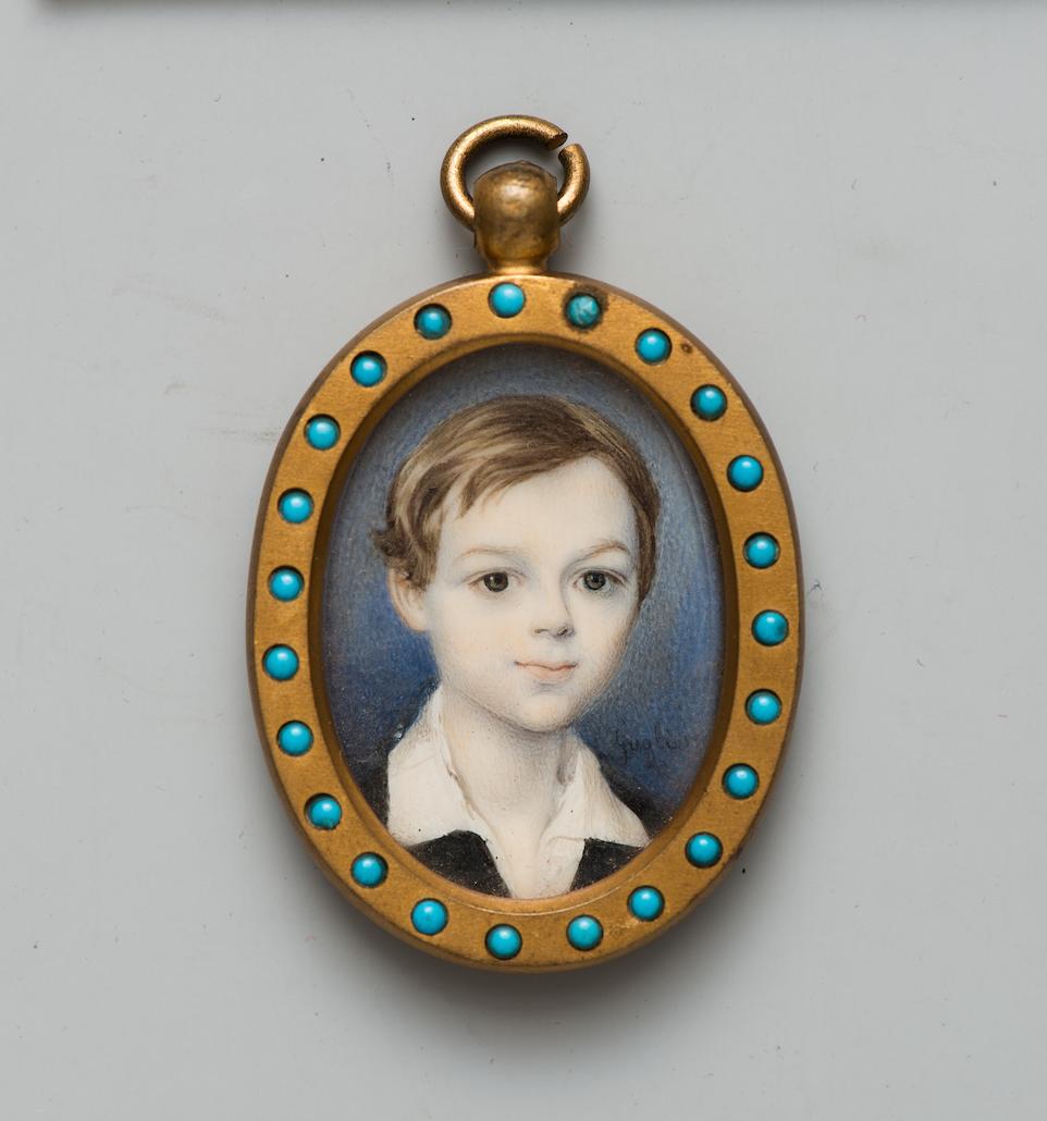 Давид Галиер Портрет графа Михаила Михайловича Толстого-старшего. Ок. 1840 г. (?) Кость, гуашь