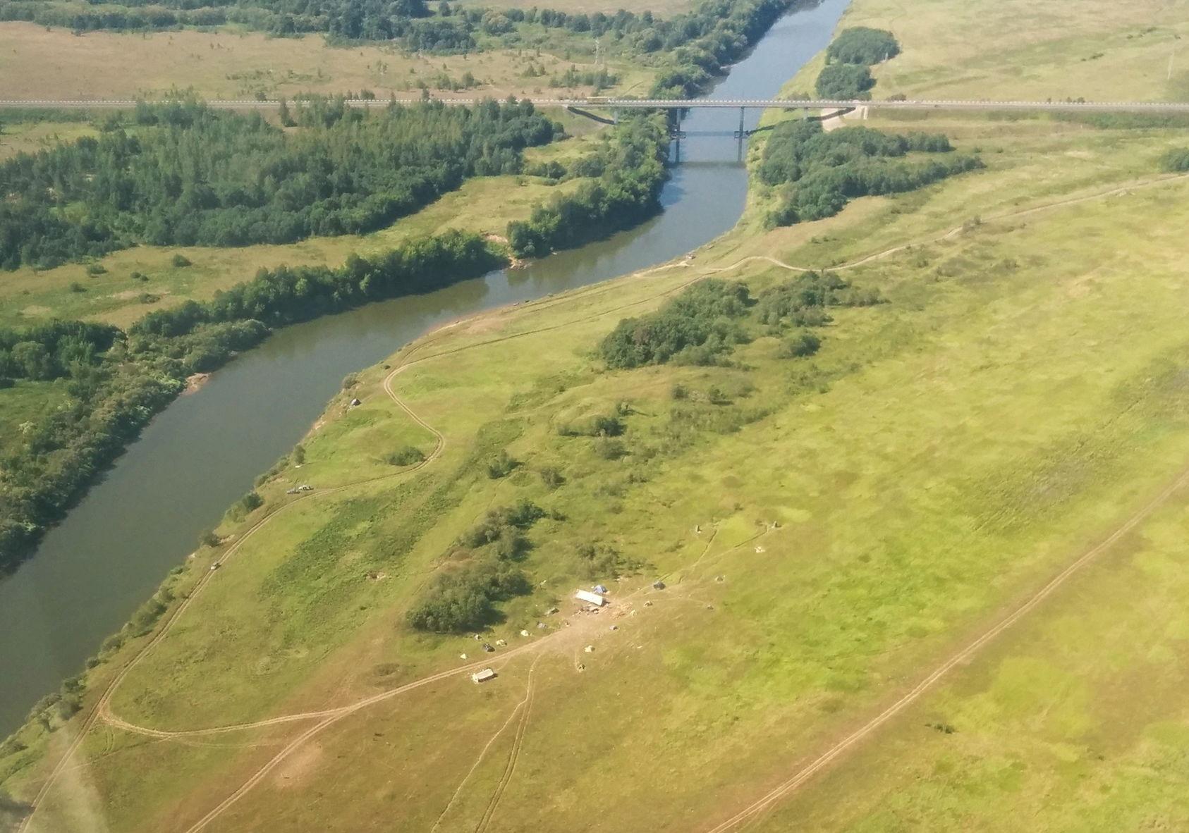 Днепровская курганная группа. Вид с воздуха.