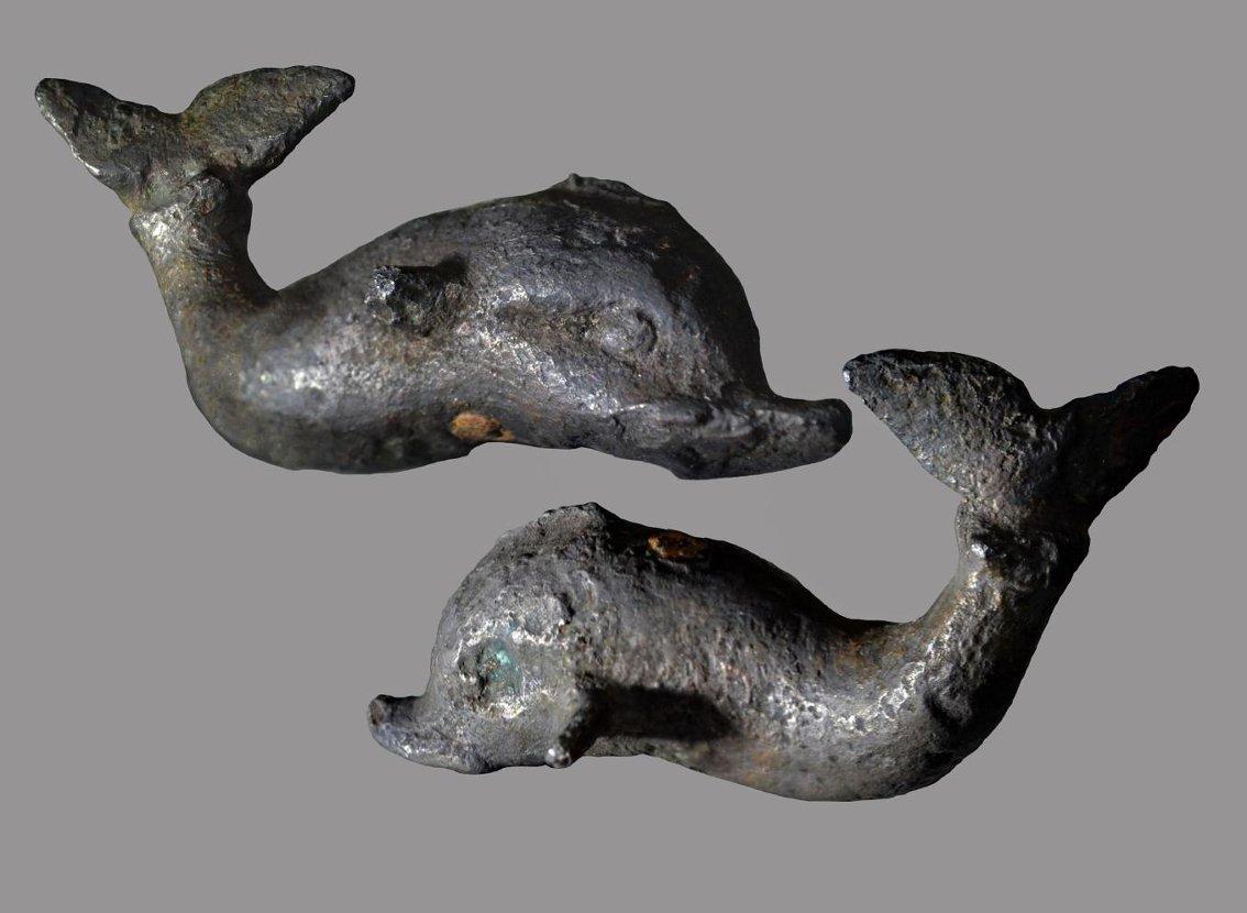 Литая фигурка дельфина. 2 половина I – II вв. н. э. Россия, Краснодарский край, Темрюкский р-н, станица Сенная