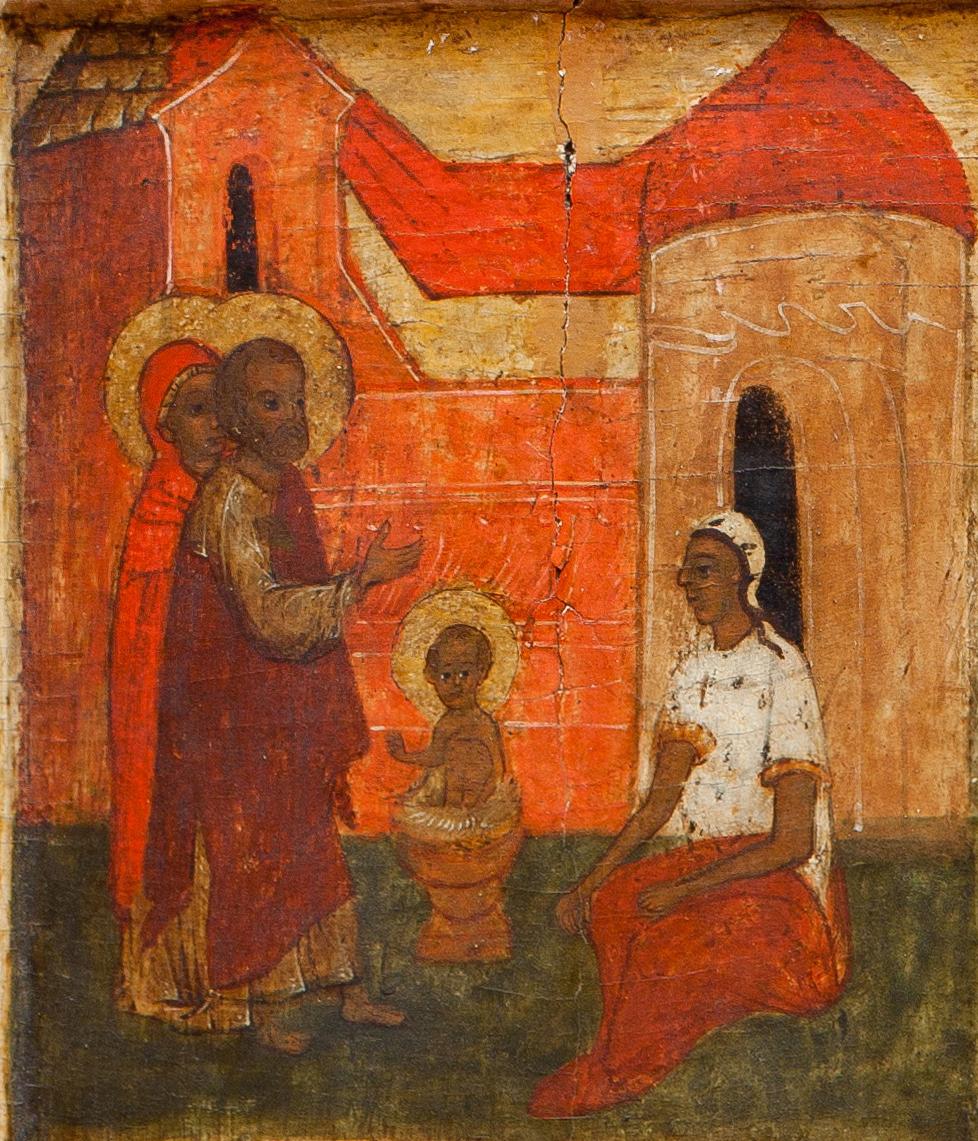 «Крещение Николая». Клеймо иконы из ризницы Покровского собора.