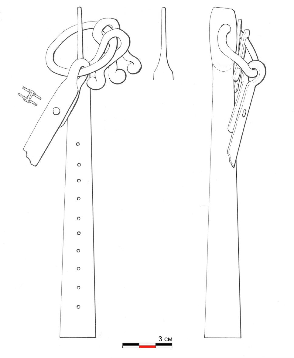 Плеть из Большого Тимерева. Схема изделия.