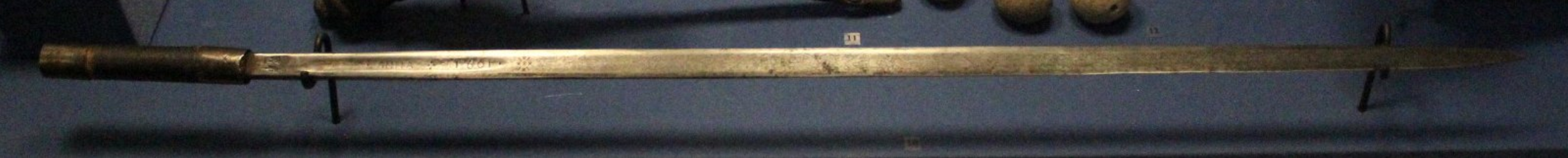 Полоса шпажного клинка с кустарной рукоятью, конец XVI – начало XVII вв.