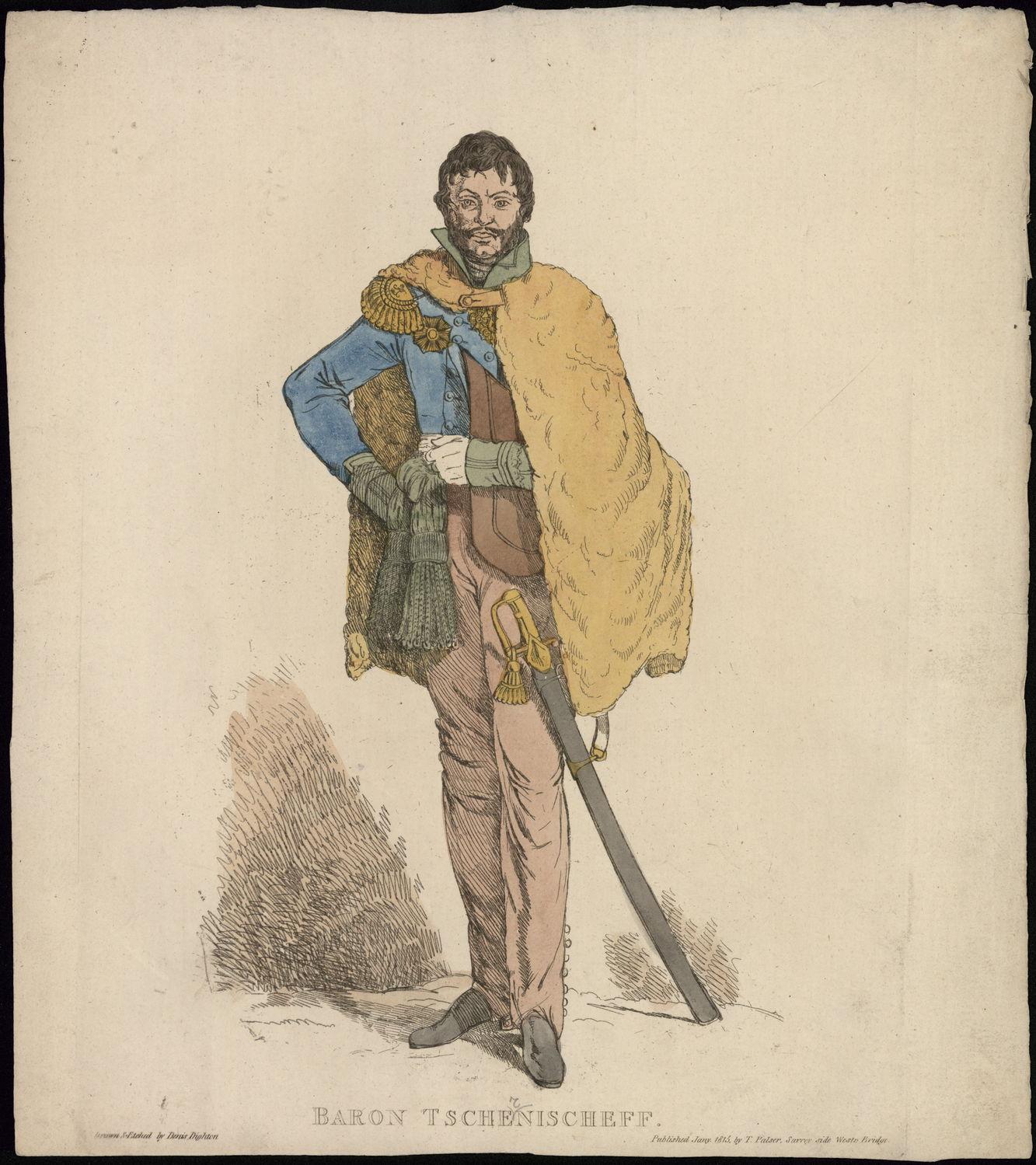 Портрет Чернышева Александра Ивановича Гравюра Д. Дайтона, 1815