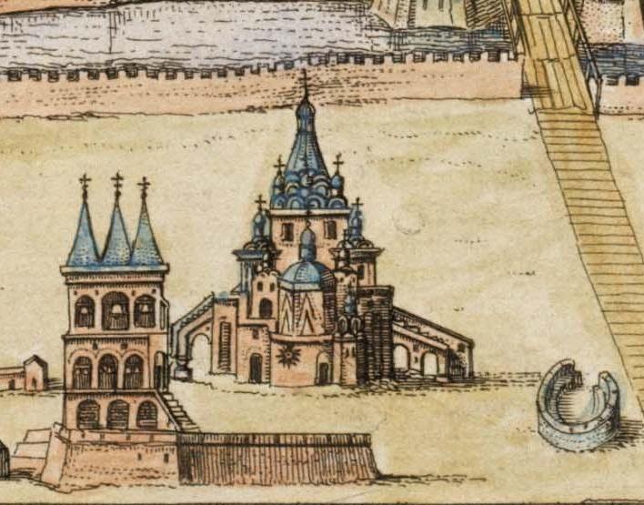 Фрагмент Кремленаграда с изображением Покровского собора