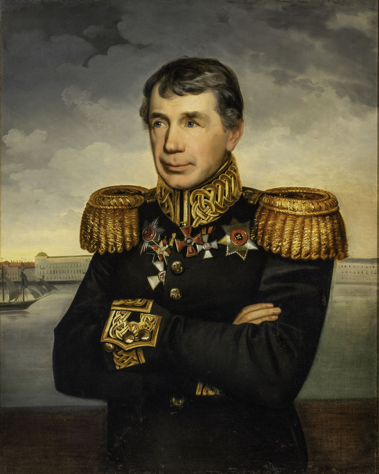 Неизвестный художник. Портрет Крузенштерна И.Ф. 1830-е гг.