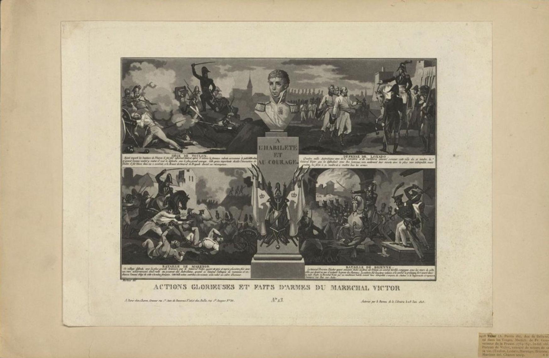 Лист из серии «Славные дела и подвиги маршала Виктора» Гравюра Л.Ф. Шарона по оригиналу П. Мартине, 1823