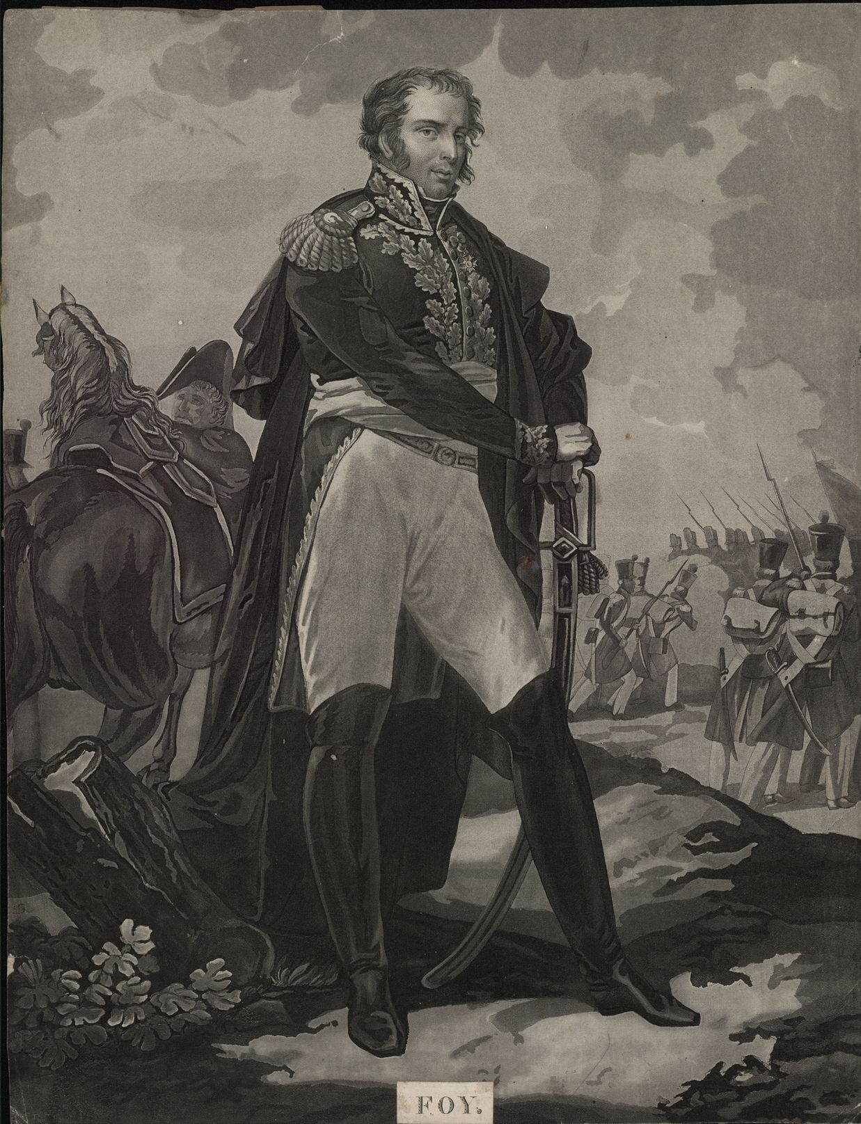 Портрет дивизионного генерала М.-С. Фуа Гравюра Л.Ф. Шарона по оригиналу П. Мартине, 1822