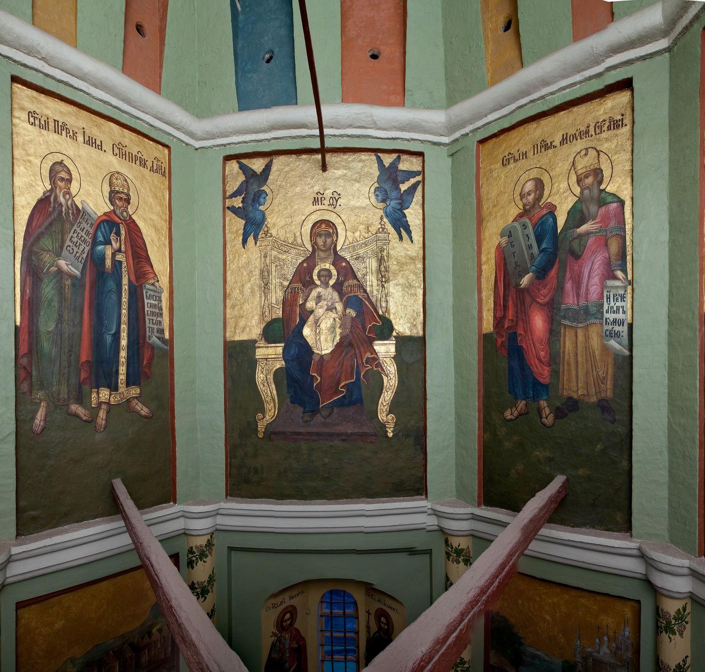 Сюжетная роспись на стенах церкви Великорецкого образа святителя Николая