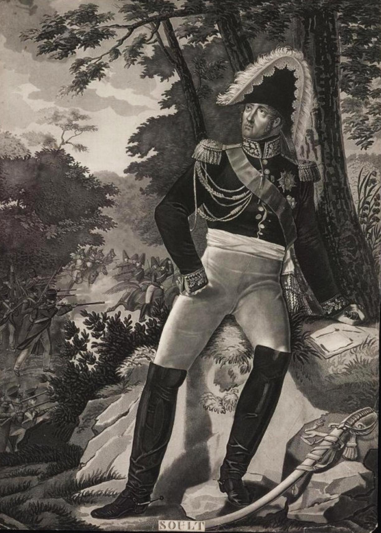 Портрет маршала Ж. Сульта Гравюра Л.Ф. Шарона по оригиналу Л.Ф. Обри, 1820