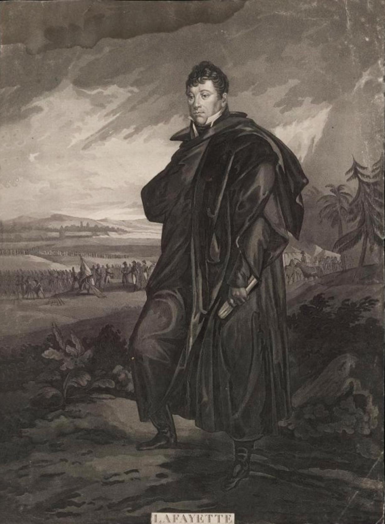 Портрет маркиза Лафайета Гравюра Л.Ф. Шарона по оригиналу П.Мартине, 1822