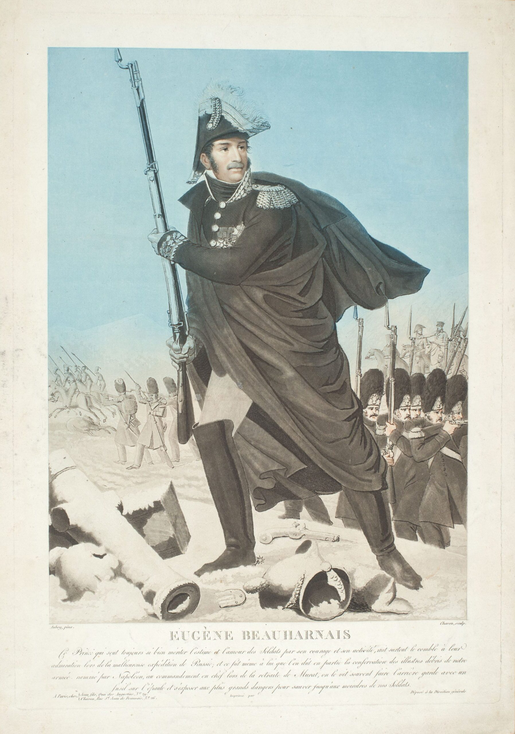 Портрет бригадного генерала Е.Богарне Гравюра Л.Ф. Шарона по оригиналу Л.Ф. Обри, до 1823