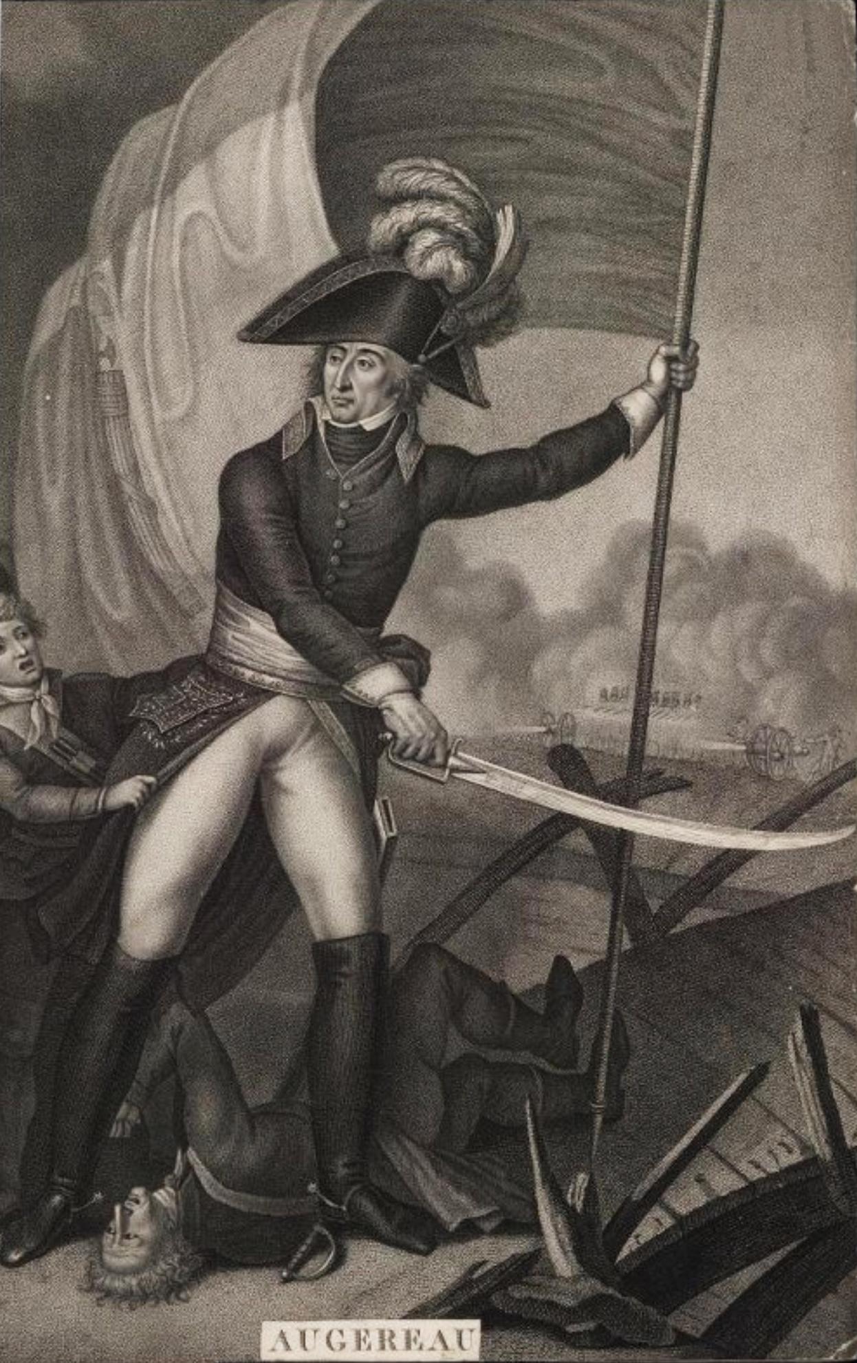 Портрет маршала Ш. П. Ф. Ожеро Гравюра Л.Ф. Шарона по рисунку П. Мартине с живописного оригинала Ш. Тевенена 1798 года, 1823