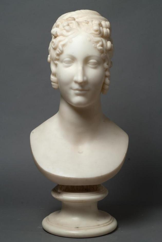 Портрет Каролины Бонапарт (1782–1839). Канова, Антонио. 1800-е гг.
