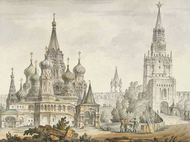 Дж. Кваренги. Вид на Покровский собор. 1780-е годы