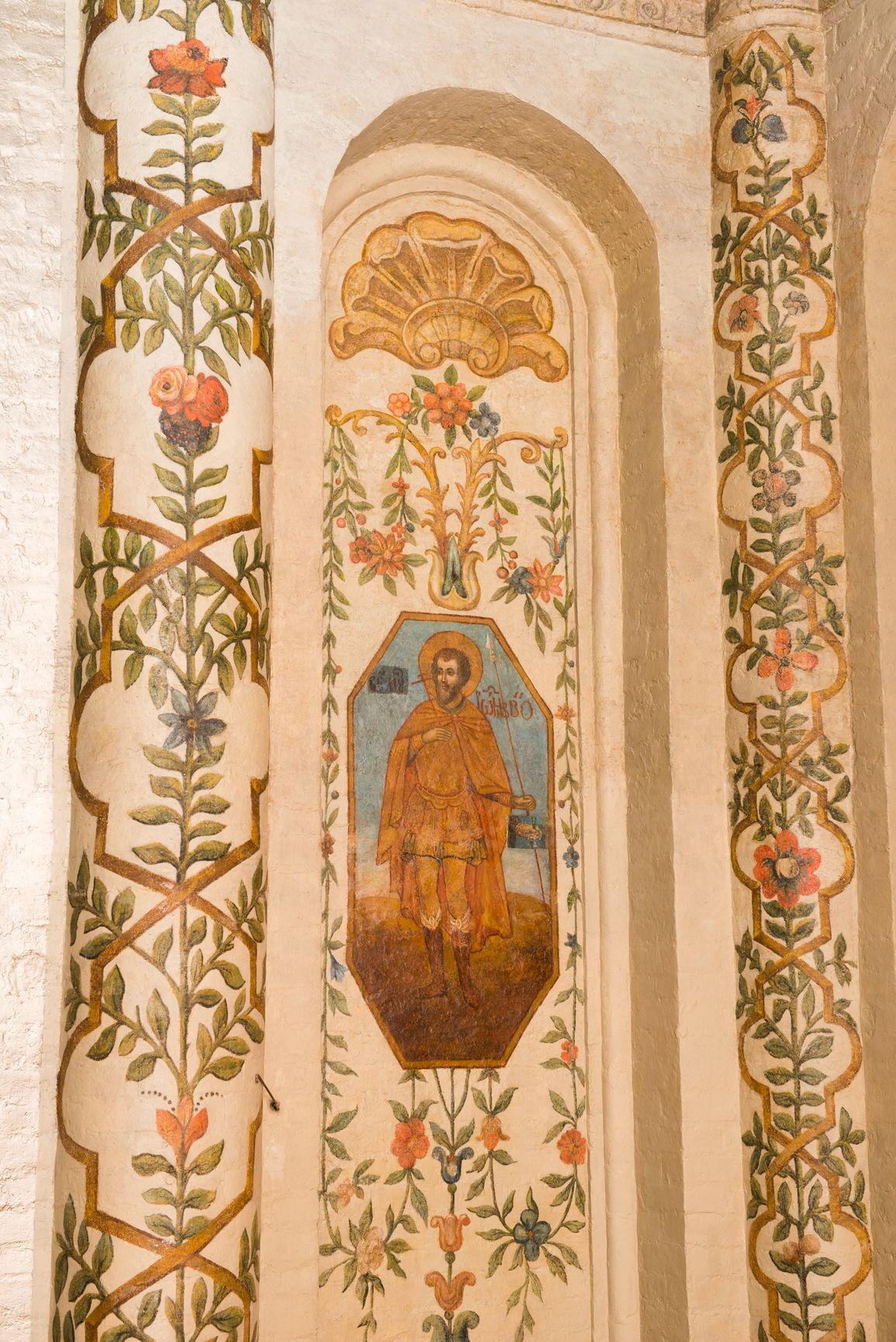 Фрагмент сюжетной росписи в центральной церкви собора. XVIII в.