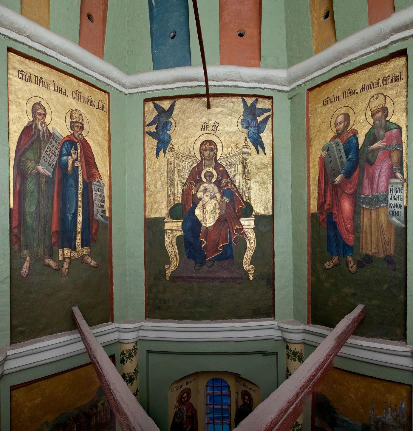 Богородица с Младенцем. Пророки. Настенная роспись церкви