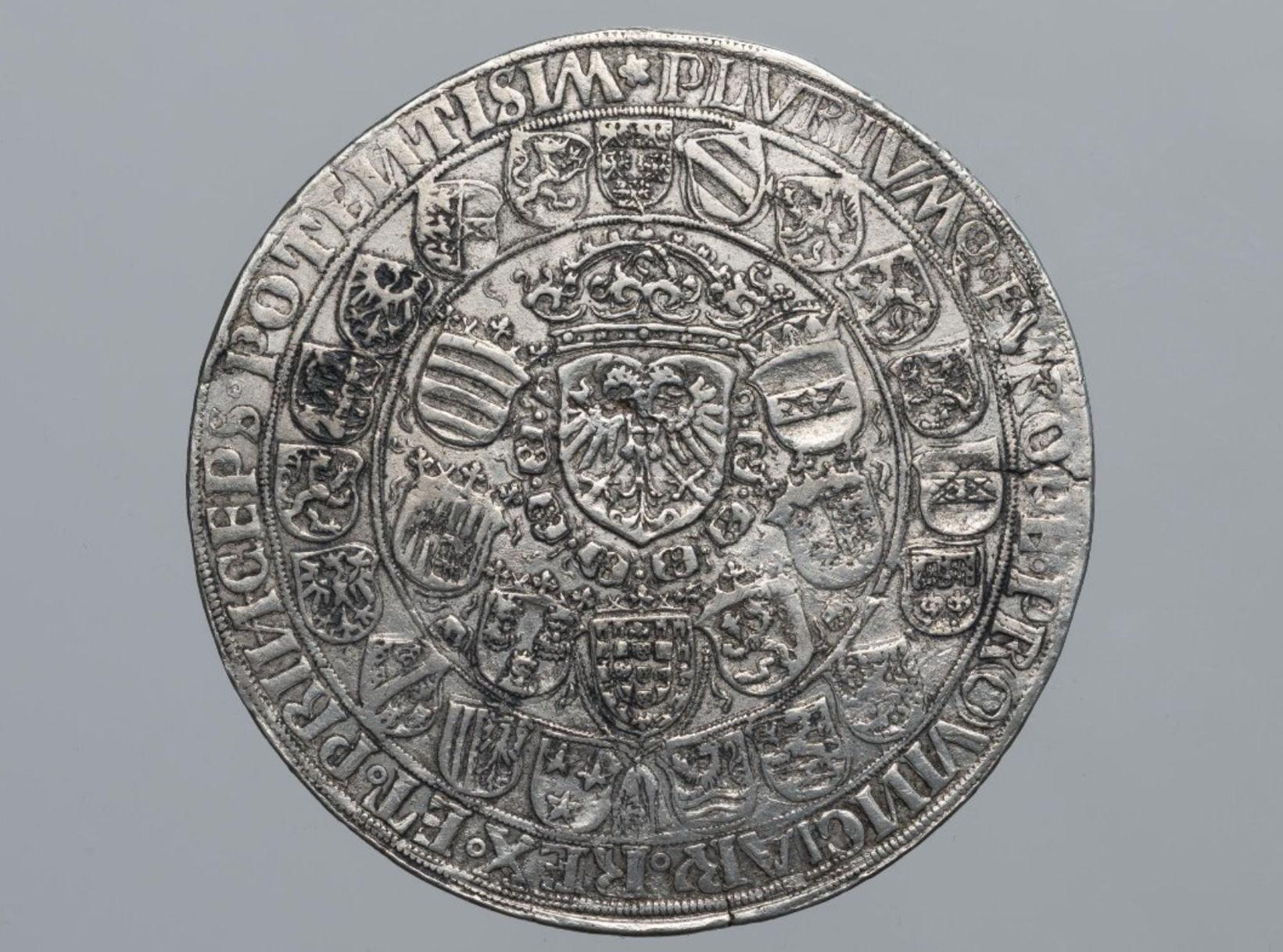 Священная Римская империя. МаксимилианI (1477–1519, император с 1508). Двукратный шаугульдинер 1509г. Серебро, чеканка