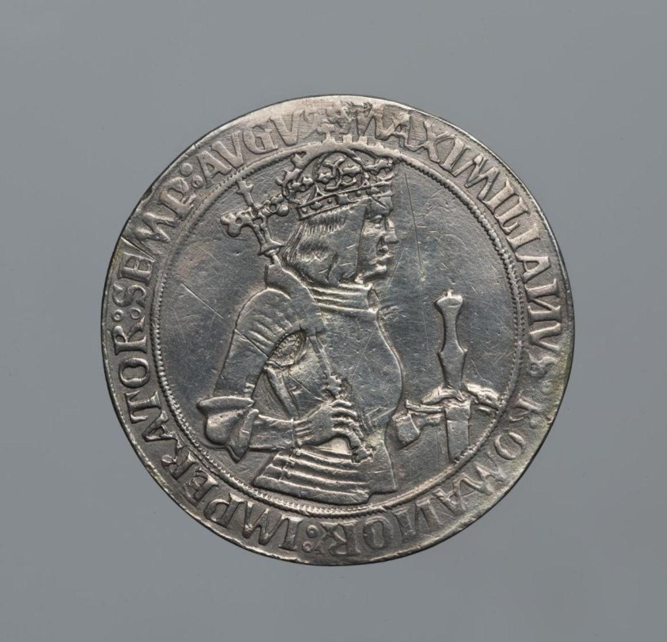 Священная Римская империя. Максимилиан I (1477–1519, император с 1508). Двукратный шаугульдинер 1509 г. Серебро, чеканка (ГИМ 93304, КР ОН 651847)