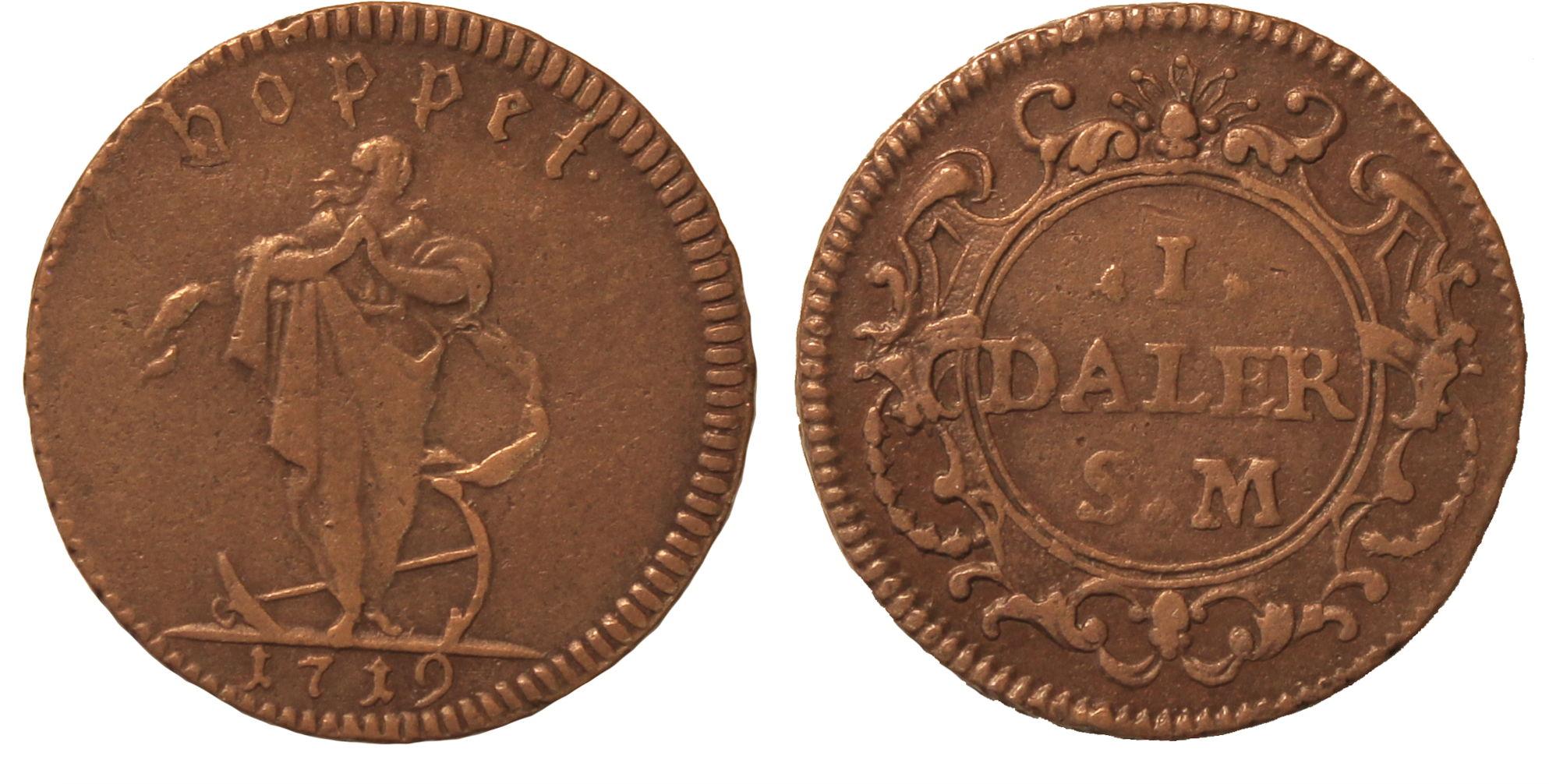 Швеция. Ульрика Элеонора (1718–1720). 1 далер 1719г.