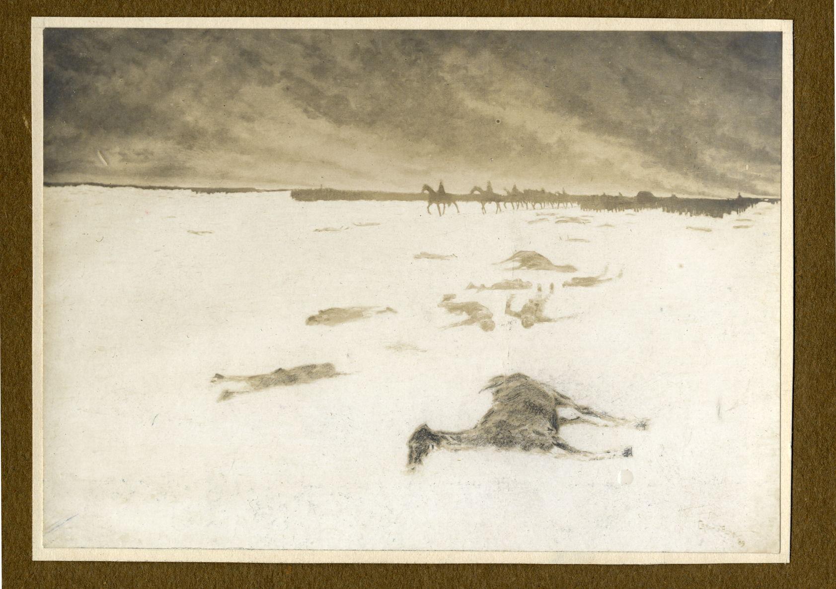 Blanc et noir (Черное и белое). 1889 г. Воспроизведение живописного полотна