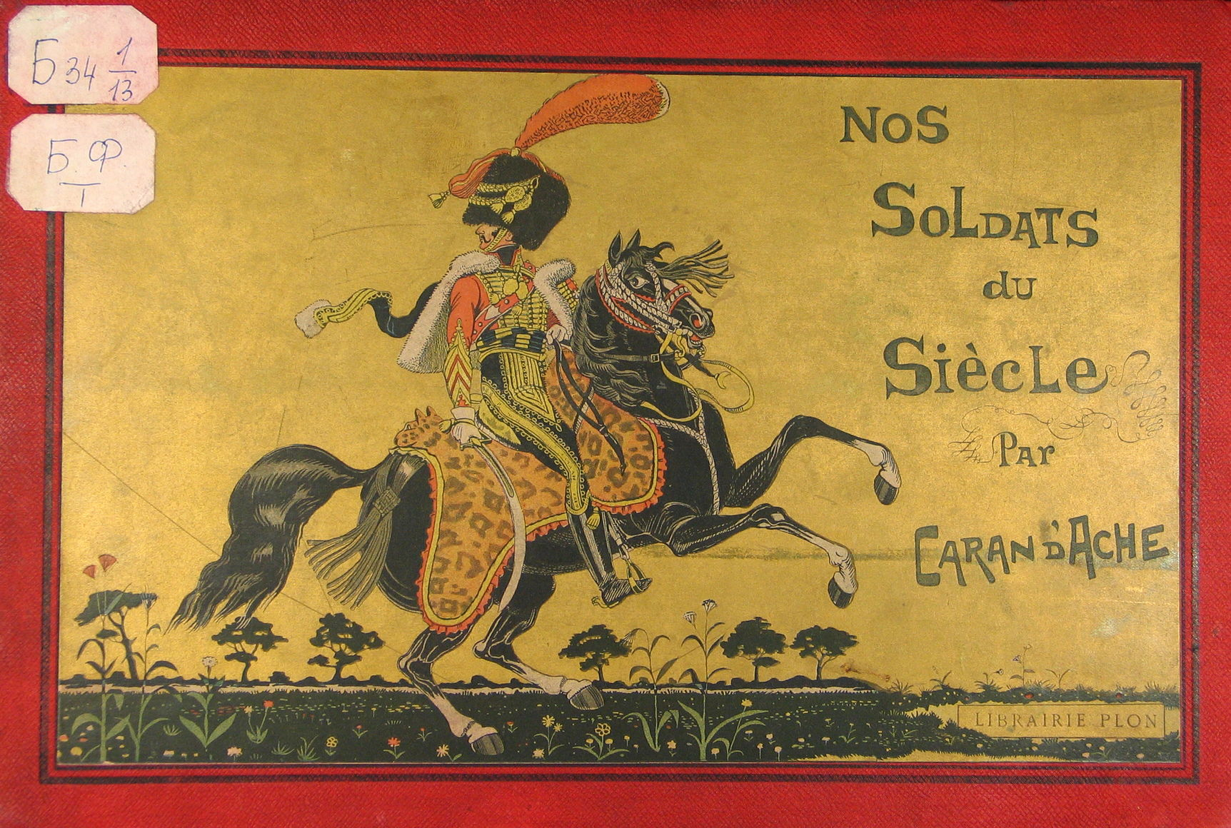 Обложка книги «Nos soldats du siècle». 1890 г.