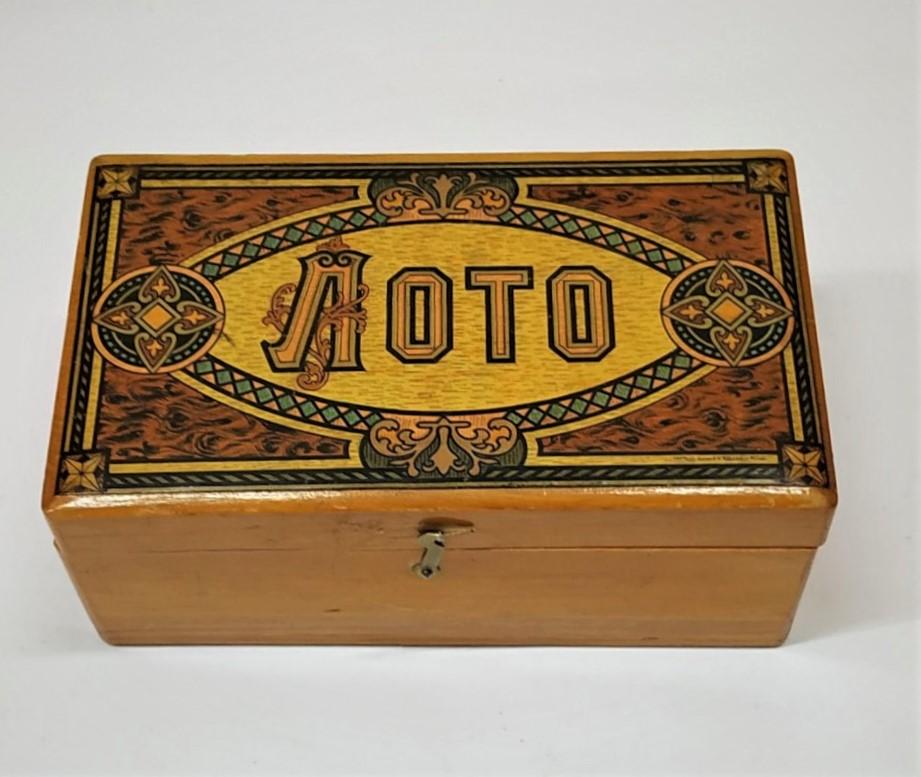 Игра лото - шкатулка. 1906 г.