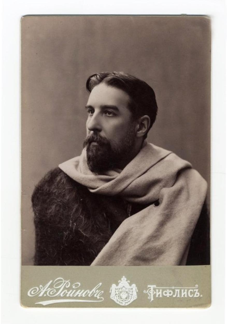 Барон де Бай Фотоателье Александра Ройнова (Роинашвили), 1897-1898. Публикуется впервые