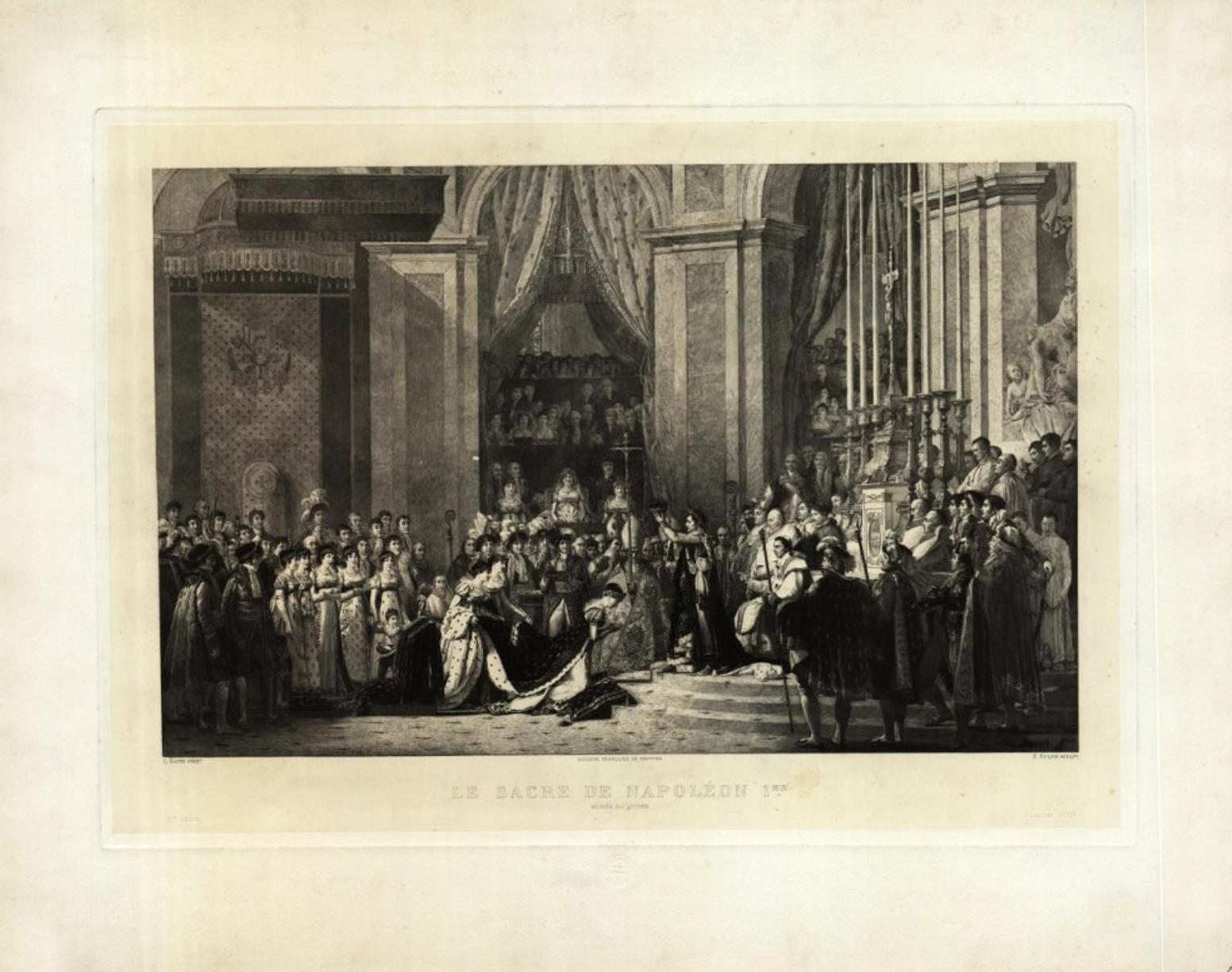 Коронация Наполеона I в Notre Dame 2 декабря 1804 года Гравюра Э.Ж. Сюльписа по живописному оригиналу Жак-Луи Давида Франция, 1911 Дар музеев Лувра