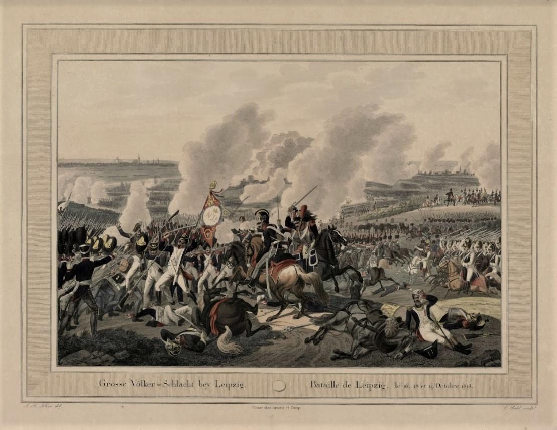 К.Раль по оригиналу И.А. Клейна Сражение при Лейпциге в октябре 1813 г.