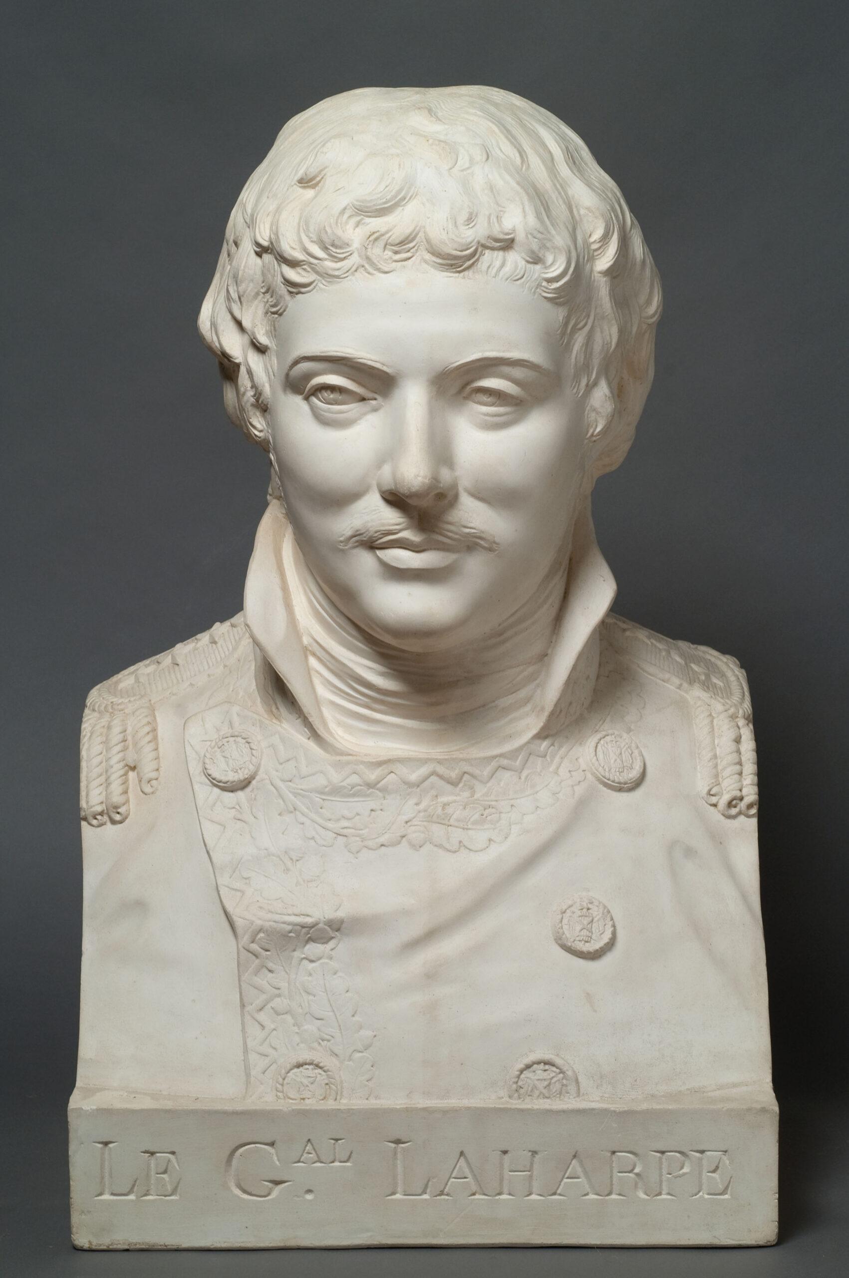 Портрет генерала А.-Э. Лагарпа Неизвестный скульптор с гипсового слепка Ф.А. Жаке по оригиналу Ф. Лекомта