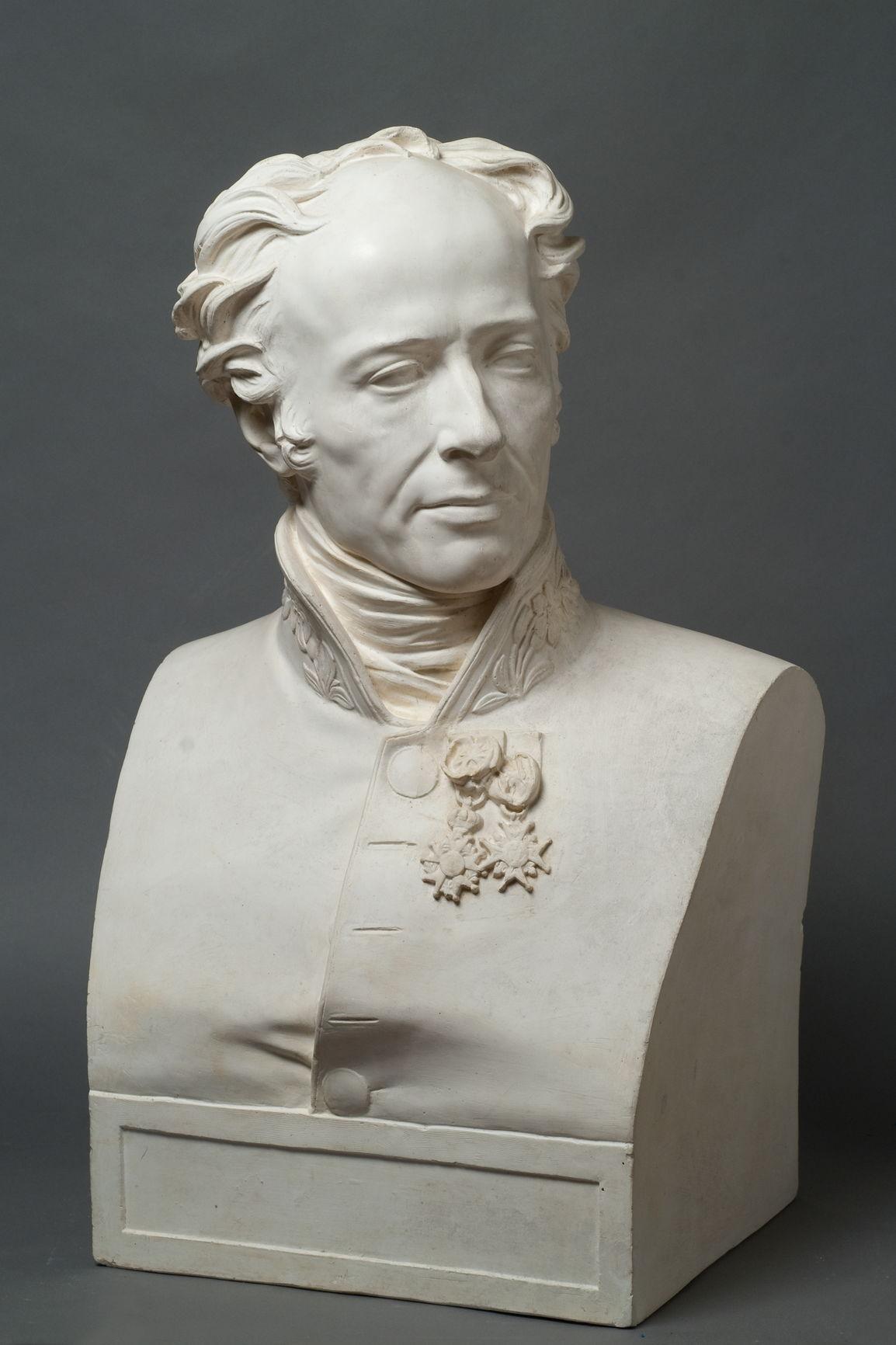 Портрет генерала М.-С. Фуа Неизвестный скульптор с гипсового слепка Ф.А. Жаке по оригиналу Т.Ф. Бра
