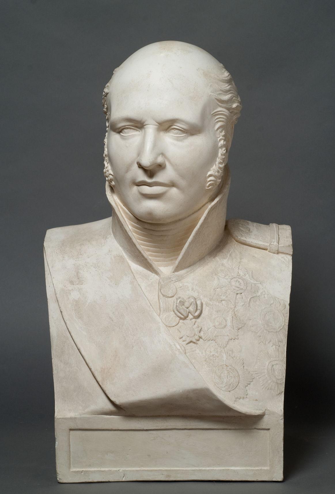 Портрет маршала Л.-Н. Даву Неизвестный скульптор с гипсового слепка Ф.А. Жаке по оригиналу Ф.Ж. Бозио.