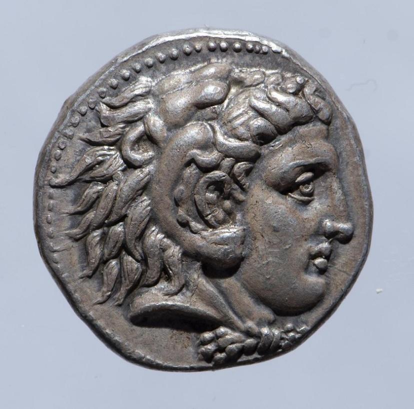 Монета. Македония. Александр III Македонский (336–323 гг. до н. э. ). Тетрадрахма. Мемфис. 332–323 гг. до н. э.