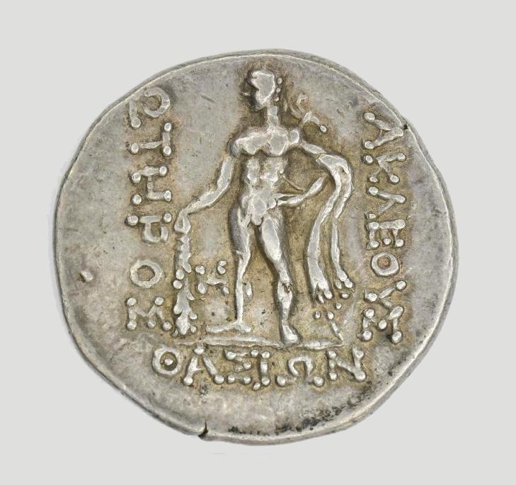 Варварское подражание античной монете. Подражание тетрадрахме Фасоса. Вторая половина II – I вв. до н. э.