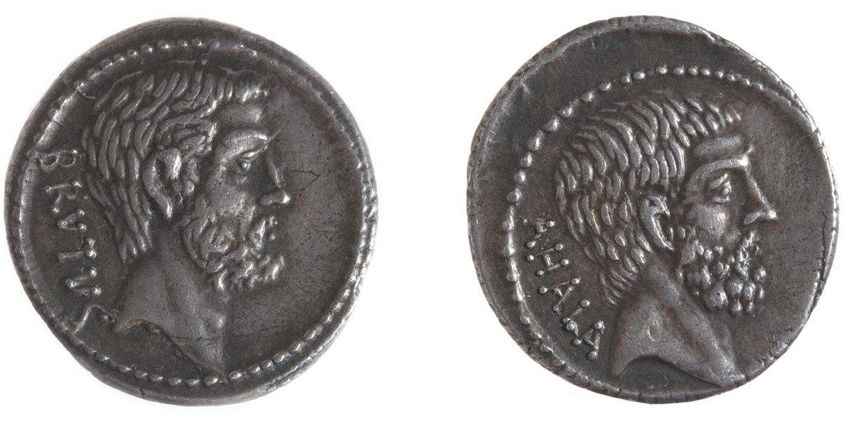 Римская республика. Денарий. 58 г. до н. э. Серебро, чеканка