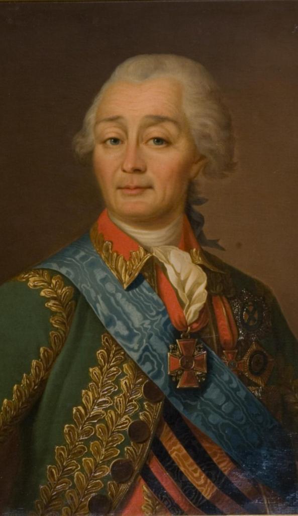 Портрет А.В. Суворова. Неизвестный художник. XVIII в. Холст, масло